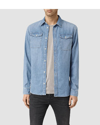 AllSaints Larcaf Denim Shirt