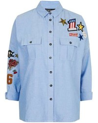 Badge Detailed Pocket Shirt