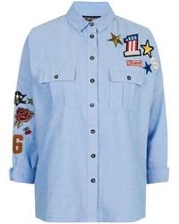 Badge Detailed Pocket Shirt