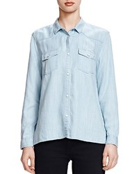 The Kooples Bleached Denim Shirt
