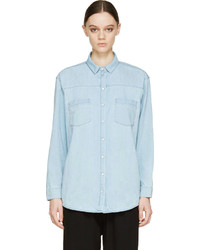 Won Hundred Blue Bea Denim Shirt