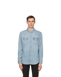 Levis Blue Denim Barstow Western Shirt