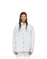 Off-White Blue Denim Diag Oversized Shirt