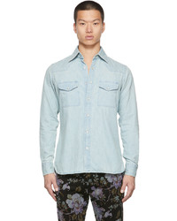 Tom Ford Blue Denim Leisure Shirt