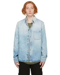 Off-White Blue Denim Marker Shirt