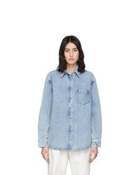 Alexander Wang Blue Denim Oversized Shirt