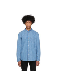 Tiger of Sweden Jeans Blue Denim Rit Shirt