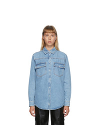 MSGM Blue Denim Shirt Jacket