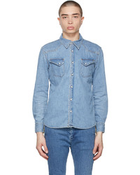 Remi Relief Blue Denim Western Give Peace Shirt