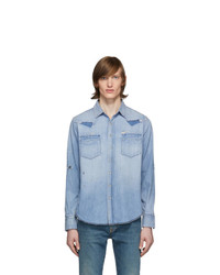 Saint Laurent Blue Denim Western Shirt