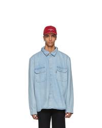 Vetements Blue Levis Edition Open Back Denim Shirt
