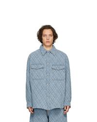 Isabel Marant Blue Quilted Denim Shirt
