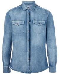 Brunello Cucinelli Chest Pockets Denim Shirt