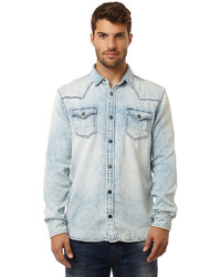 98699a4fc5 Contrast Collar Indigo Shirt Out of stock · Buffalo David Bitton Fadelind
