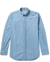 Canali Button Down Collar Denim Shirt