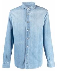 Eleventy Button Up Denim Shirt