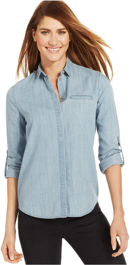Calvin klein jeans long sleeve shirt dress