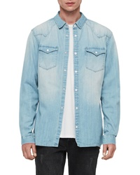 AllSaints Cardock Slim Fit Denim Shirt