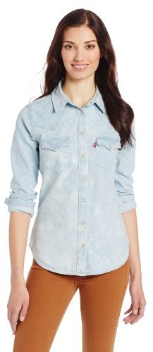 867c5b923d ... Light Blue Denim Shirts Levi s Cloud Wash Denim Western Shirt