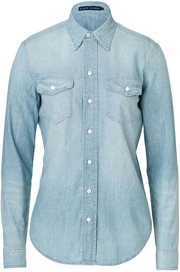 Polo Ralph Lauren Cotton Denim Work Shirt 185 Stylebop Com