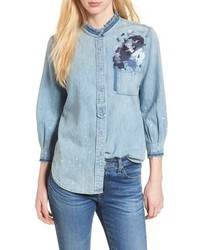 AG Courtney Denim Top