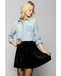 BDG Cropped Chambray Shirt