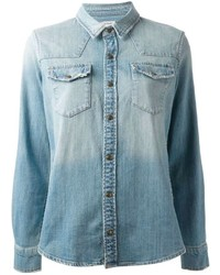 Current/Elliott The Socal Western Denim Shirt