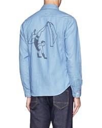 Nobrand Dancer Print Denim Shirt