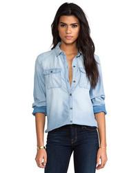 e305dc8c0 Women's Light Blue Denim Shirts from Revolve Clothing | Women's ...