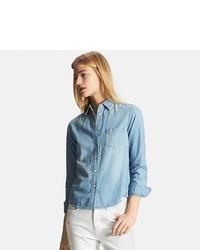 Uniqlo Denim Long Sleeve Shirt