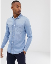 Tiger of Sweden Jeans Denim Shirt In Light Blue