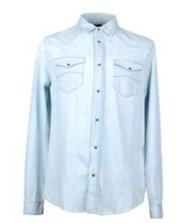 de4d2ad36a Men s Light Blue Denim Shirts by Armani Jeans
