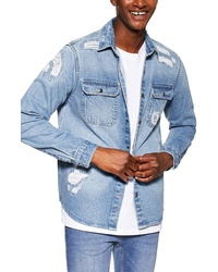 Topman Denim Slim Shirt