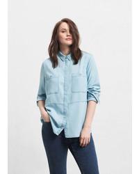Violeta BY MANGO Denim Soft Shirt