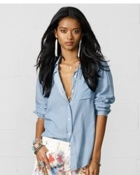 Denim & Supply Ralph Lauren Gauze Boyfriend Shirt