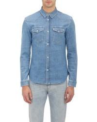 Maison Margiela Denim Western Shirt Blue