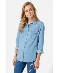 Topshop Denim Western Shirt