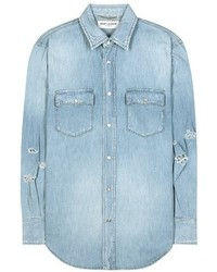 Saint Laurent Distressed Denim Shirt