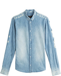 IRO Distressed Denim Shirt