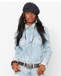 Denim & Supply Ralph Lauren Distressed Denim Western Shirt