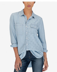 Lucky Brand Ditsy Long Printed Boyfriend Shirt