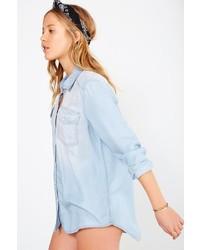 56703640d ... Blue Denim Shirts BDG Drapey Chambray Button Down Shirt BDG Drapey  Chambray Button Down Shirt ...