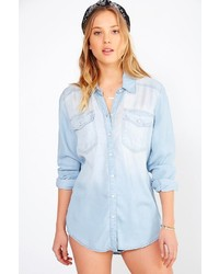 BDG Drapey Chambray Button Down Shirt