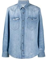 Eleventy Flap Pocket Denim Shirt
