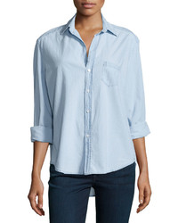Frank And Eileen Frank Eileen Long Sleeve Eileen Cotton Shirt Indigo Denim