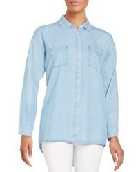 Splendid Hi Lo Denim Shirt