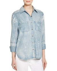 Hidden Abbey Bleached Denim Shirt