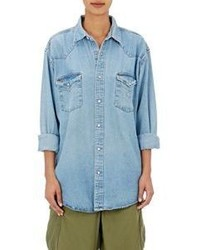 Icons Snap Front Denim Shirt