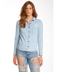 Blvd In Style Long Sleeve Denim Shirt