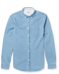 Acne Studios Isherwood Button Down Collar Washed Denim Shirt